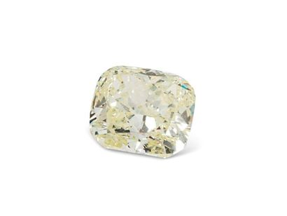 Diamant taille coussin de 3,02 carats sur...