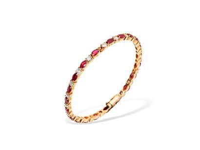 Bracelet jonc ouvrant en or jaune 18k (750...