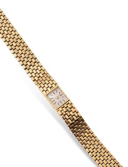 LACLOCHE Montre bracelet de dame duoplan en or jaune 18k (750 millièmes). Cadran...