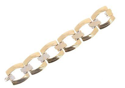 Large bracelet soupe à maillons géométriques...