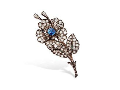 Broche « trembleuse » en forme de fleur en...