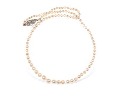 JANESICH Collier formé de 101 perles fines...