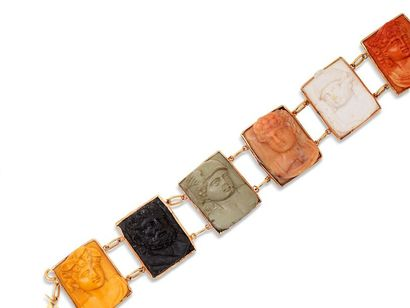 Bracelet en or jaune 14k (585 millièmes)...