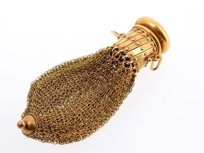 Aumônière en or jaune 18k (750 millièmes),...