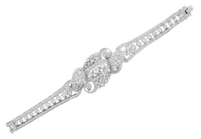 Splendide bracelet en or gris 18k (750 millièmes)...