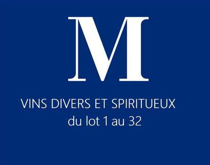 VINS DIVERS ET SPIRITUEUX du lot 1 au 32