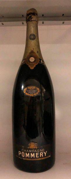 1 jéroboam CHAMPAGNE Pommery 1964 (niveau...