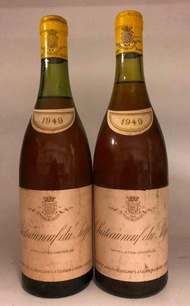 2 bouteilles CHÂTEAUNEUF-DU-PAPE blanc, Audibert...