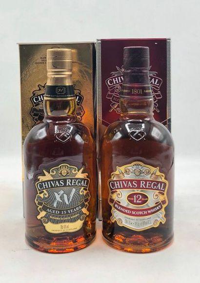 2 bouteille SCOTCH WHISKY Chivas Regal (1...