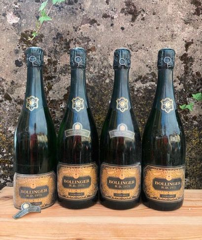 4 bouteilles CHAMPAGNE