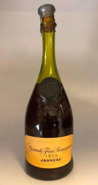1 bouteille ARMAGNAC Janneau 1959 (bouchon...