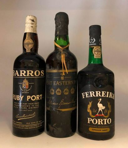 3 bouteilles PORTO (Great Eastern, Ferreira,...