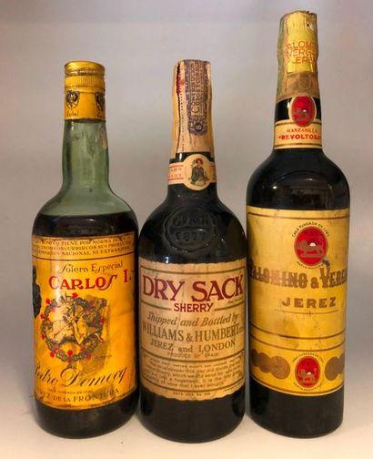 3 bouteilles JEREZ (1 Solera Carlos 1, B,...