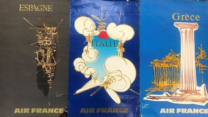 Georges MATTHIEU (1921-2012)  Air France,...