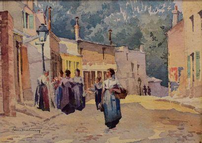 Ecole française début XX ème  Montmartre...