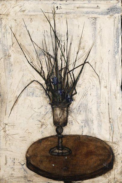 Pierre LAFFILLÉ (1938-2011)  Bouquet de fleurs...
