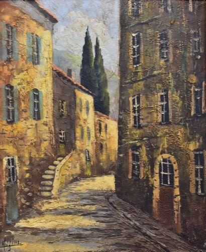 Robert MOGISSE (1933-)  Ruelle de village...