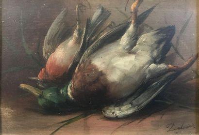 Ecole du XXème  Nature morte au canard  Huile...