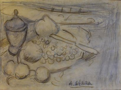 Antoine SERRA (1908-1995)  Nature morte aux...