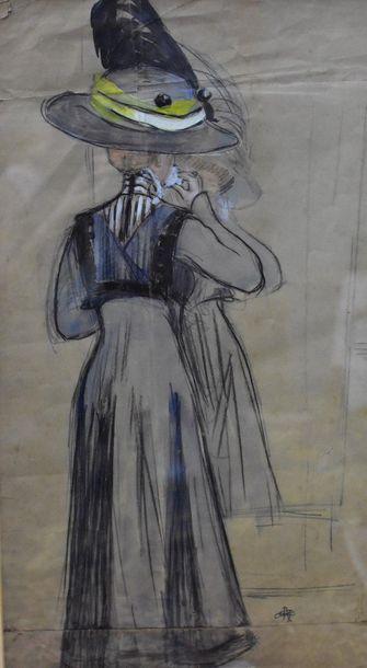 Albert Paul GUILLAUME (1873-1942)  Elégante...
