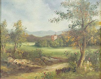 XIXème-XXème  Le Fort  Huile sur toile  Signé...