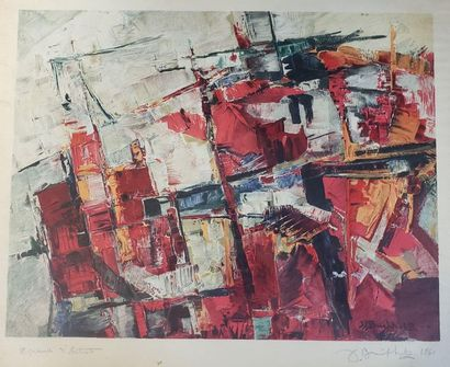 Jacques BUCHHOLZ (1909-?)  Composition abstraite...