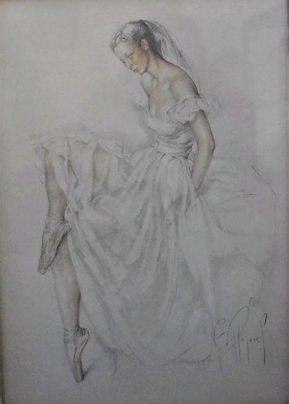 Fernand MAJOREL (1898-1965)  Danseuse  Mine...