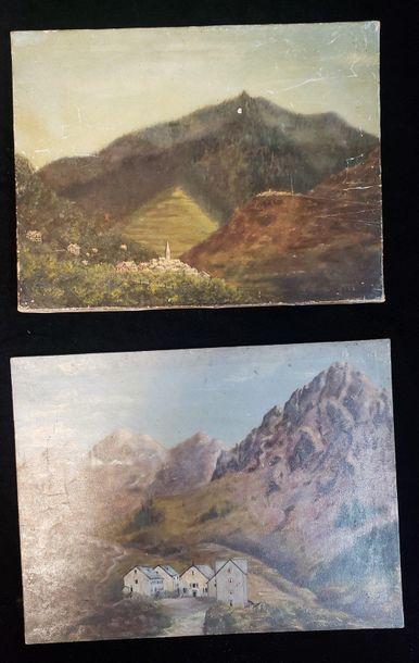 Ecole du XXème  Hameau de montagne / La vallée...