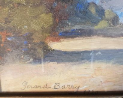 Gerard BARRY  Santa Barbara, California  Oil on wood  Signed lower left and dated...