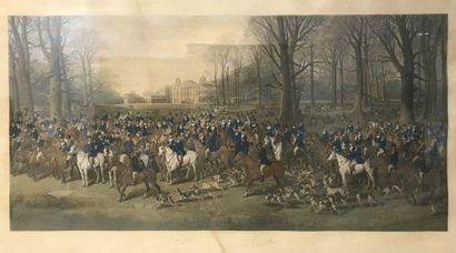 Beaufort Worcester  Lithography  Signed below and dated 1880  50.5 x 102 cm  (Yellowing...