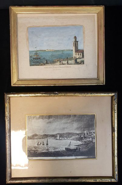 Vue des îles Ste Marguerite / Cannes  Lot...