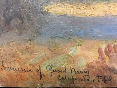 Gerard BARRY (1864 - ?)  Memories of California, USA  Oil on cardboard  Signed,...