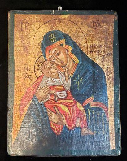 Icône de la Vierge à l'Enfant  Panneau de...