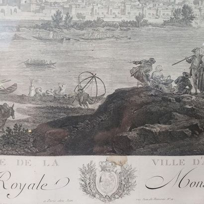 """""""View of the Avignon Valley"""" and """"The Port of Antibes in Provence""""  Set of two engravings..."""