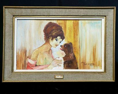 Charles CUZIN (1907-1975)  Jeune femme au...