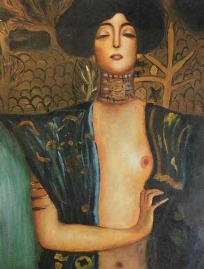 XXth  Symbolist Woman  Gouache on paper  13.5...