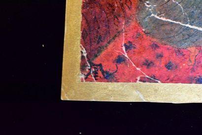 20th Century School  Gypsies  Mixed media on paper  Monogrammed bottom left  (Missing...