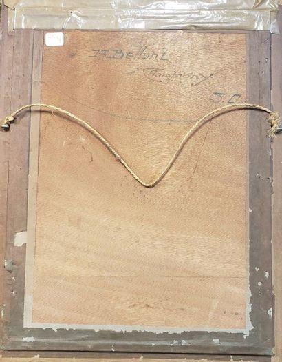A. BOURGEOIS (XXème)  Venise, sur le Grand Canal  Aquarelle  Signé en bas à droite...