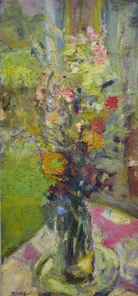Marius WOULFART (1905-1991)  Bouquet of flowers...