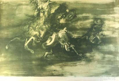Claude WEISBUCH (1927-2014)  Don Quixote  Lithograph, Artist's proof  Signed lower...