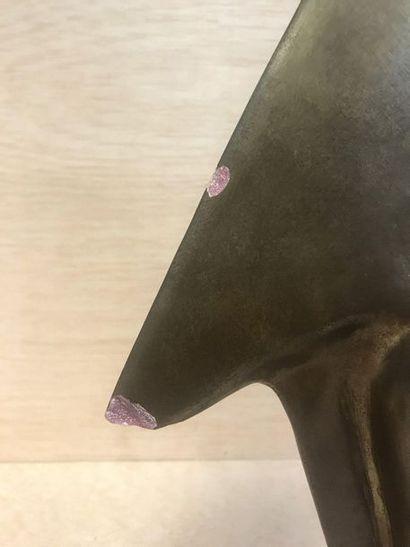 According to Constantin BRANCUSI  Le Coq, reproduction  Plaster  Several splinters...
