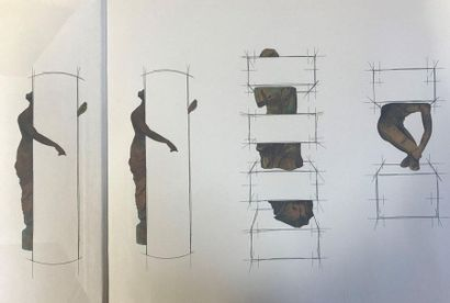 FARHI  By Pierre Restany  1995  Dedicated by Pierre Restany and Fari, with drawing...
