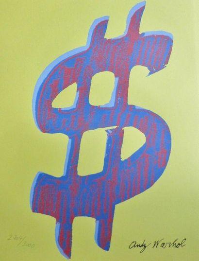 According to Andy WARHOL (1928-1987)  DOLLARS...