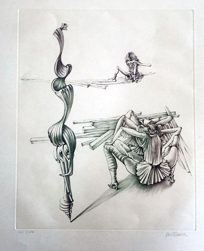 Hans BELLMER (1902-1975)  Pointe sèche originale...