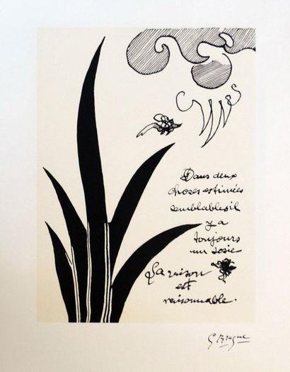 Georges BRAQUE (1882-1963)  Intitulé « Dans...