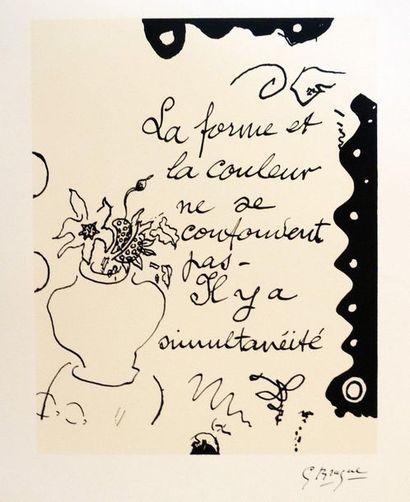 Georges BRAQUE (1882-1963)  « La forme et...