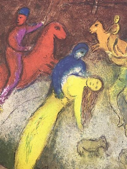 Marc CHAGALL (1887-1985)  Historical poster of the exhibition at PACE/COLOMBUS,...