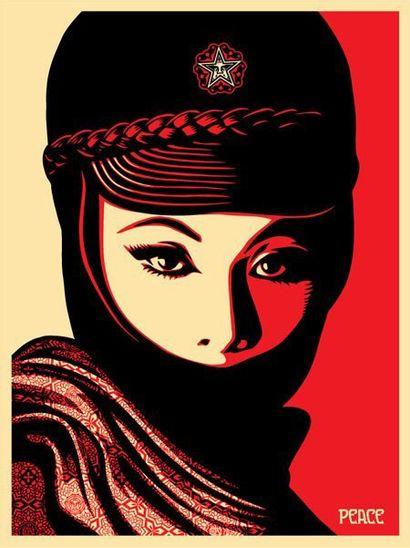 Shepard FAIREY (1970)  Mujer fatal  Impression...