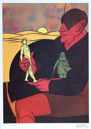 Valerio ADAMI (1935)  Statuette,1982  Lithographie...