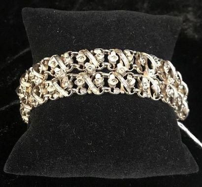 Bracelet en métal à décor de guirlandes de...